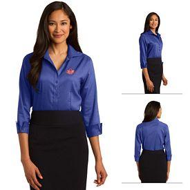 Customized Red House RH69 Ladies 3/4-Sleeve Nailhead Non-Iron Button-Down Shirt