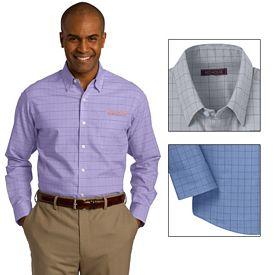 Customized Red House RH70 Men's Windowpane Plaid Non-Iron Shirt