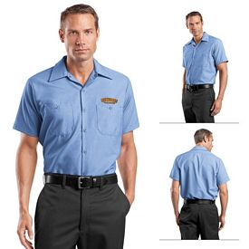 Customized Red Kap SP24 Short Sleeve Industrial Work Shirt