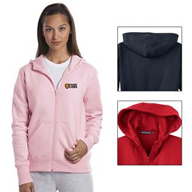 Customized Sport-Tek L265 Ladies Full-Zip Hooded Fleece Jacket