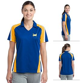 Customized Sport-Tek LST654 Ladies Tricolor Micropique Sport-WickPolo