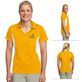 Customized Sport-Tek LST655 Ladies Side Blocked Micropique Sport-Wick Polo
