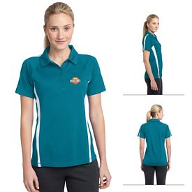 Customized Sport-Tek LST685 Ladies PosiCharge Micro-Mesh Colorblock Polo