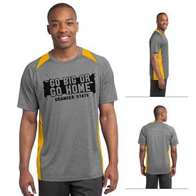 Customized Sport-Tek ST361 Heather Colorblock Contender Tee