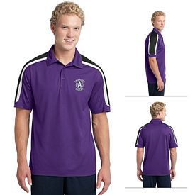 Customized Sport-Tek ST658 Tricolor Shoulder Micropique Sport-Wick Polo