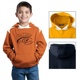 Customized Sport-Tek Y264 Youth Pullover Hooded Sweatshirt with Contrast Color