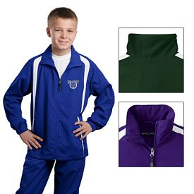 Customized Sport-Tek YST60 Youth Colorblock Raglan Jacket
