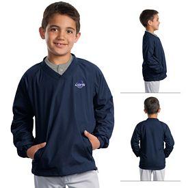 Customized Sport-Tek YST72 Youth V-Neck Raglan Wind Shirt