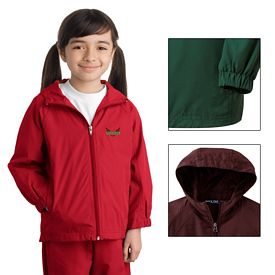 Customized Sport-Tek YST73 Youth Hooded Raglan Jacket