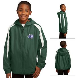 Customized Sport-Tek YST81 Youth Fleece-Lined Colorblock Jacket