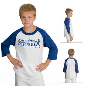 Customized Sport-Tek YT200 Youth Colorblock Raglan Jersey