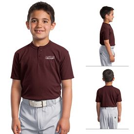 Customized Sport-Tek YT210 Sport-Tek Youth Short Sleeve Henley