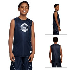Customized Sport-Tek YT555 Youth PosiCharge Mesh Reversible Sleeveless Tee