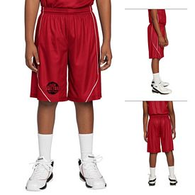 Customized Sport-Tek YT565 Youth PosiCharge Mesh Reversible Spliced Short