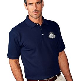Customized UltraClub 7510 Men's Platinum Honeycomb Pique Polo
