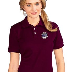 Customized UltraClub 7510L Ladies' Platinum Honeycomb Pique Polo