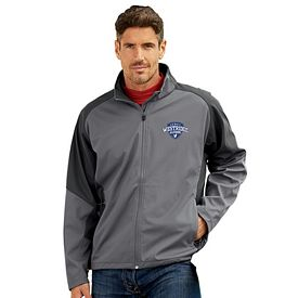 Customized UltraClub 8275 Adult Soft Shell Jacket