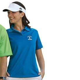 Customized UltraClub 8305L Ladies' Cool & Dry Elite Mini-Check Jacquard Polo