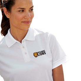 Customized UltraClub 8315L Ladies' Platinum Temp Control Performance Polo