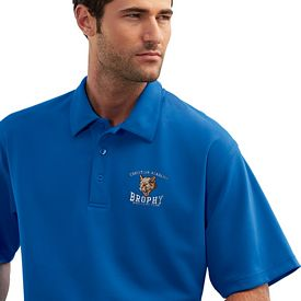 Customized UltraClub 8320 Men's Platinum Performance Jacquard Polo w/Temp Control