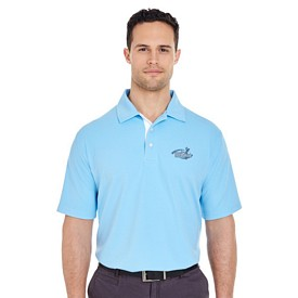Customized UltraClub 8325 Men's Platinum Performance Birdseye Polo w/Temp Control