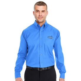 Customized UltraClub 8330 Mens Performance Poplin Dress Shirt