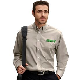 Customized UltraClub 8340 Men's Wrinkle Free End-On-End Shirt