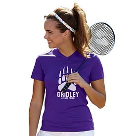 Customized UltraClub 8400L Ladies' Cool & Dry Sport V-Neck Tee