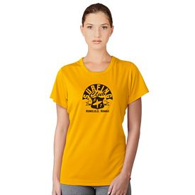 Customized UltraClub 8420L Ladies Cool & Dry Sport Performance Interlock Tee