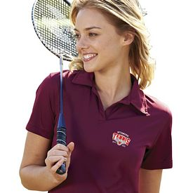 Customized UltraClub 8425L Ladies' Cool & Dry Sport Performance Interlock Polo