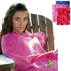 Customized UltraClub 8483 Tie-Dyed Fleece Blanket