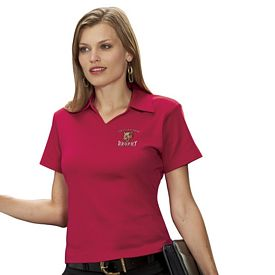 Customized UltraClub 8507 Ladies' Egyptian Interlock V-Neck Polo