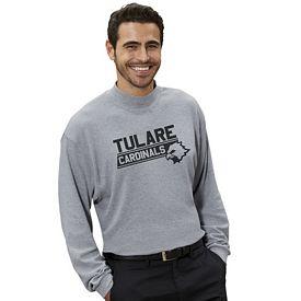 Customized UltraClub 8510 Adult Egyptian Interlock Long-Sleeve Mock Turtleneck