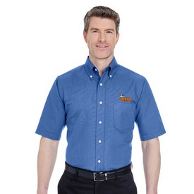 Customized UltraClub 8972 Men's Classic Wrinkle-Free Short-Sleeve Oxford
