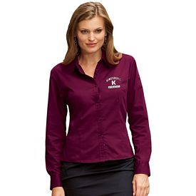 Customized UltraClub 8976 Ladies' Whisper Twill Shirt