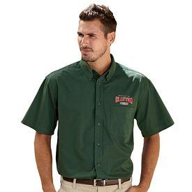 Customized UltraClub 8977 Adult Short-Sleeve Whisper Twill Shirt
