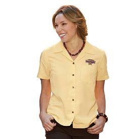 Customized UltraClub 8981 Ladies' Cabana Breeze Camp Shirt