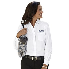 Customized UltraClub 8990 Ladies' Classic Wrinkle-Free Long-Sleeve Oxford