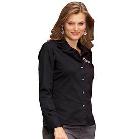 Customized UltraClub 8992 Ladies' Whisper Elite Twill Shirt