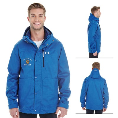 Customized Under Armour MenS Cgi Porter 3-In-1 Hooded Jacket