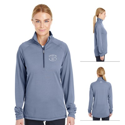 Custom Under Armour Ladies Tech Stripe Quarter Zip