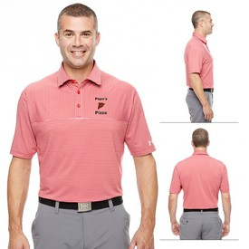 Promotional Under Armour MenS Striped Playoff Polo