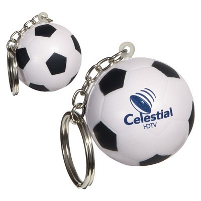 Customized Soccer Ball Key Chain Stress Reliever
