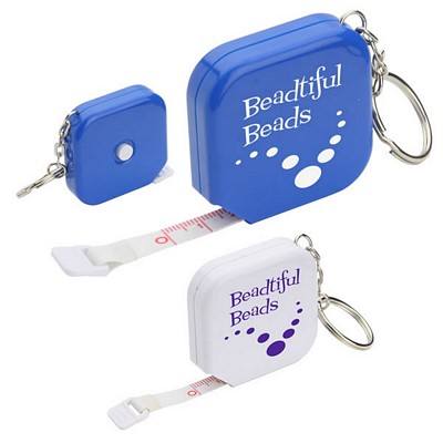 Promotional Square Tape Measure Key Chain