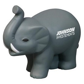 Promotional Elephant With Tusks Stress Reliever