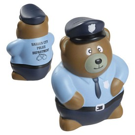 Promotional Police Bear Stress Reliever