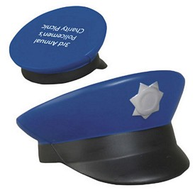Promotional Police Cap Stress Reliever
