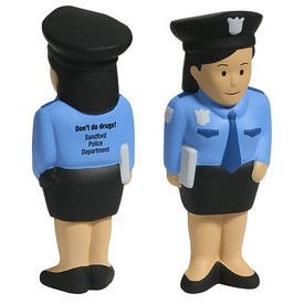 Promotional Police Woman Stress Reliever
