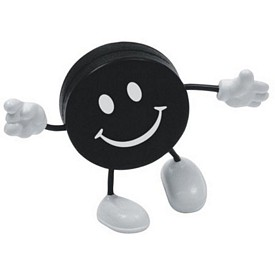 Promotional Hockey Puck Figure Stress Reliever