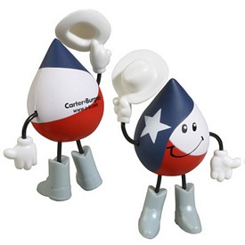 Promotional Texas Figure Stress Reliever